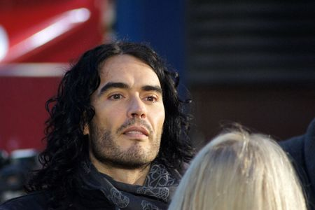 eventful: LONDON - October 11: Russell Brand At The Despicable Me Premiere October 11, 2010 in Leicester Square London, England.  Editorial