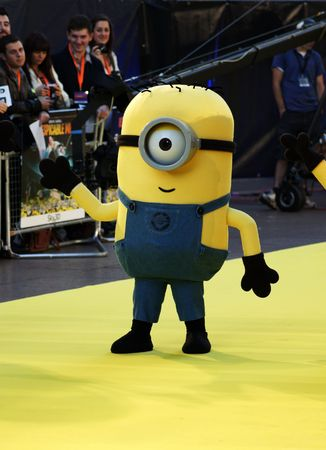 celeb: LONDON - October 11: Yellow Minion At The Despicable Me Premiere October 11, 2010 in Leicester Square London, England.
