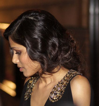celeb: LONDON - October 18: Freida Pinto At The Miral Premiere October 18, 2010 in Leicester Square London, England.