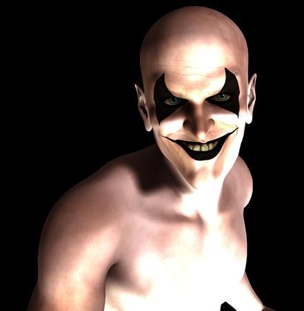 clownophobia: Un payaso psic�tico sonriente malvado y siniestro.