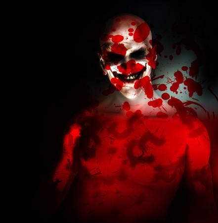 clownophobia: Un payaso psic�tico mal cubierto en sangre.