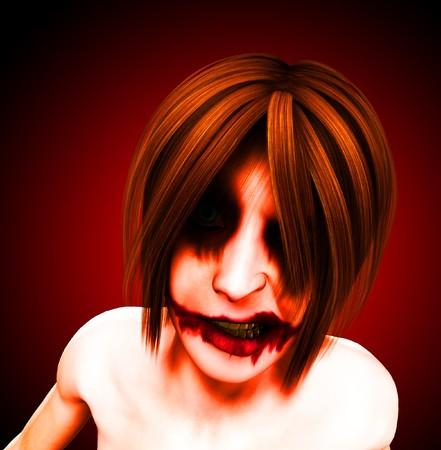 clownophobia: Un payaso femenino mal y psic�tico y siniestro.