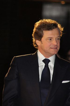 celeb: LONDON - October 21: Colin Firth At The Kings Speech Premiere October 21, 2010 in Leicester Square London, England.                 Editorial