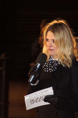 bowman: Londra - 21 ottobre: Edith Bowman presso discorso Premiere del re 21 ottobre 2010 a Leicester Square, London, England.         Editoriali