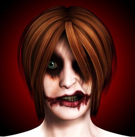 clownophobia: Sinsiter female clown