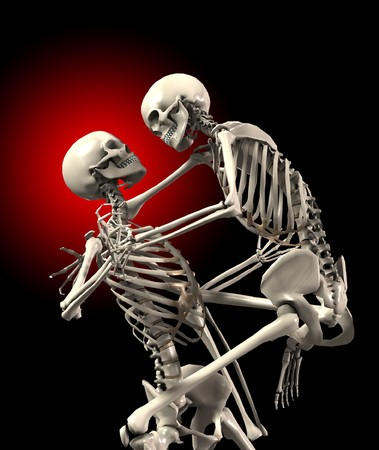 Some skeletons that are fighting each other. Stock Photo - 8106467