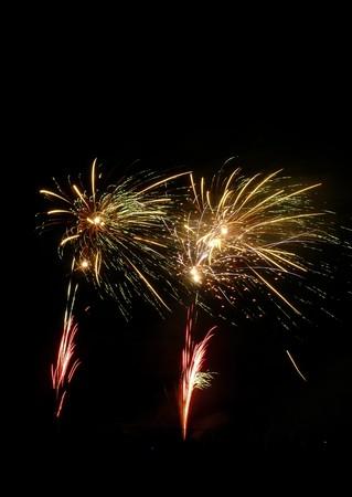 guy fawkes night: Fuegos artificiales celebrando la noche de Guy Fawkes en suelo de recreo de Barkingside.