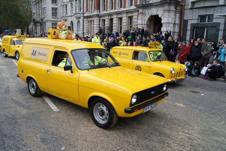 eventful: LONDON - November 13: The AA  At The Lord Mayors Show November 13, 2010 Central London, England.             Editorial
