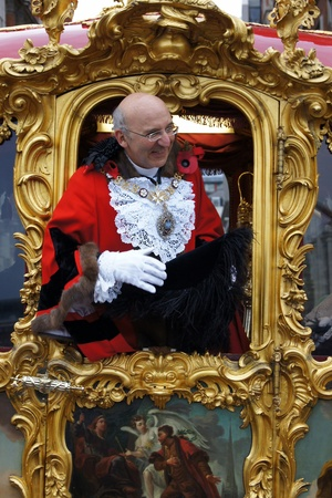 councilor: LONDON - November 13: The Lord Mayor Of London  At The Lord Mayors Show  November 13, 2010 Central London, England.