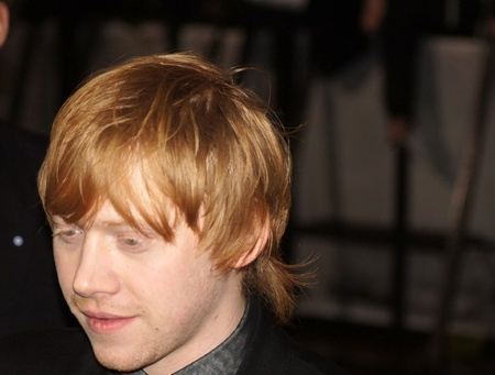 LONDON - November 13: Rupert Grint  At The Harry Potter And The Deathly Hallows Premiere November 13, 2010 in Leicester Square London, England.                  Stock Photo - 8226175