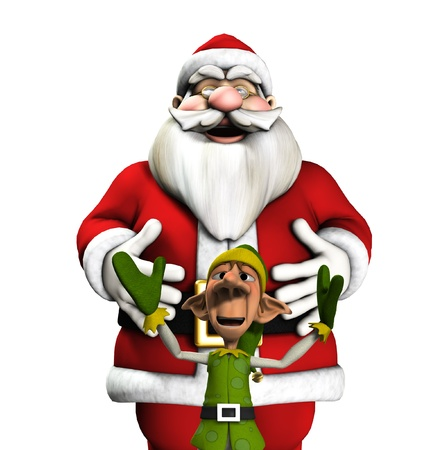 jolly: Santa and elf