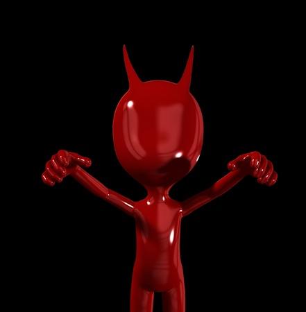 vile: A simple red devil figure representing evil.  Stock Photo