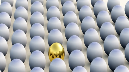 conformist: Concept image about non conforming and Easter.  Stock Photo