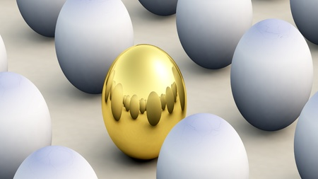Concept image about non conforming and Easter. Stock Photo - 9162632