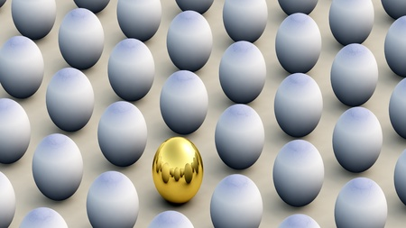 non: Concept image about non conforming and Easter.  Stock Photo