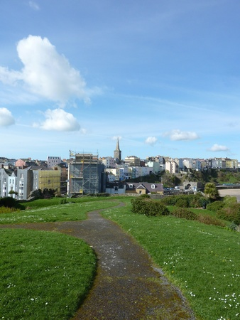 mary's: A view of St Marys Church in Tenby Wales.