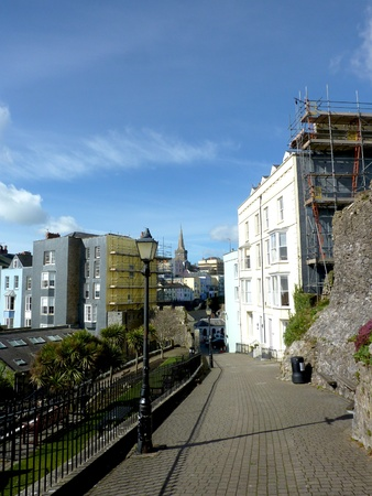 tenby wales: A view of St Marys Church in Tenby Wales.