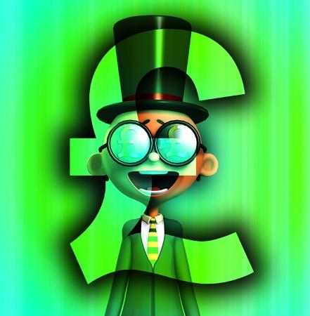 A very posh man that loves money. Stock Photo - 9865290