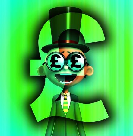 A very posh man that loves money. Stock Photo - 9865289