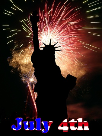 eventful: An image celebrating American freedom and liberty. Stock Photo