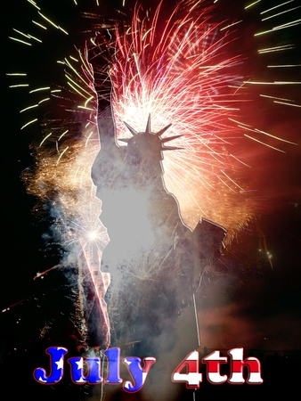 An image celebrating American freedom and liberty. Stock Photo