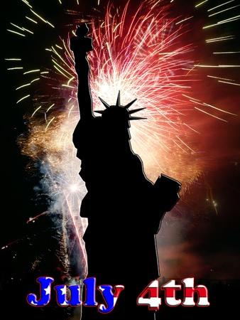 미국 자유와 자유를 축하하는 이미지.