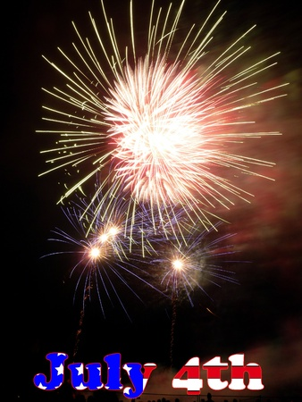 Fireworks going of celebrating July 4th American independence day. Stock Photo - 9928631