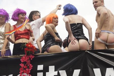 LONDON - July 2: Gay Pride 2011 In Trafalgar Square July 2nd, 2011 in London, England.