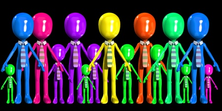 crowed: Concept image about multiculturalism in the work place.