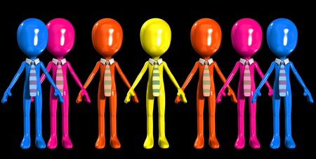 Concept image about having a multi ethnic workforce.