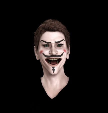 Close up view of an insane Guy Fawkes. Stock Photo - 10569503