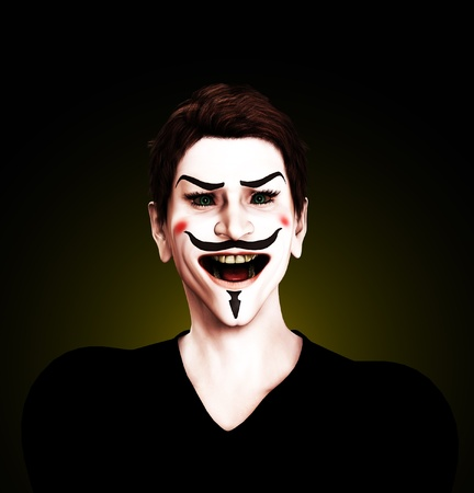 Close up view of an insane Guy Fawkes. Stock Photo - 10569508