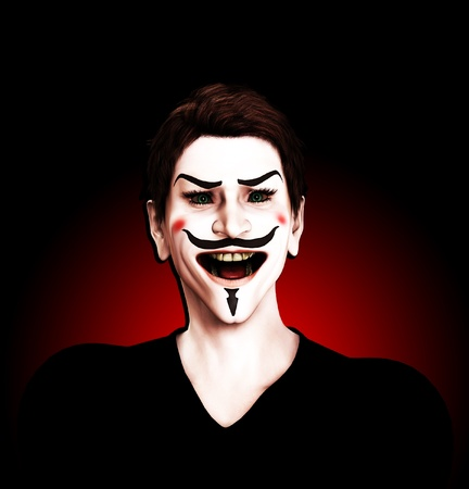Close up view of an insane Guy Fawkes. Stock Photo - 10569513