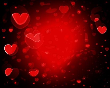 낭만적 인 개념에 대 한 사랑 마음의 컬렉션입니다. 스톡 콘텐츠