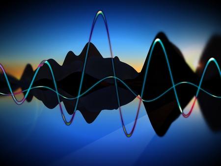 일부 초음파 그래픽의 구상보기.