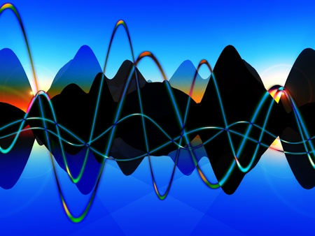 fluctuation: A representational view of some soundwave graphics.