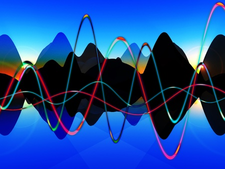 A representational view of some soundwave graphics. Stock Photo - 10569529