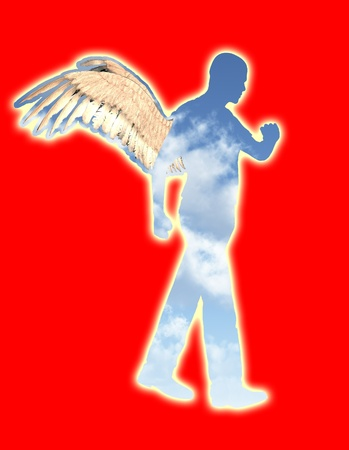 heavenly angel: A concept image showing a heavenly angel. Stock Photo
