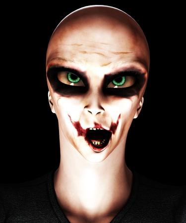 clownophobia: Una mezcla de un extranjero y el payaso psic�tico para Halloween.