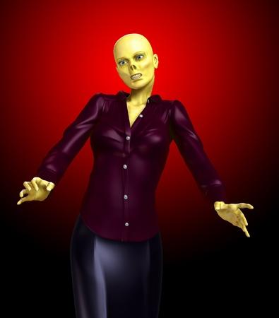 fester:  A horrible bald zombie women for Halloween.