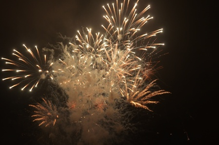Fireworks on the River Thames for The Lord Mayor Of London. photo