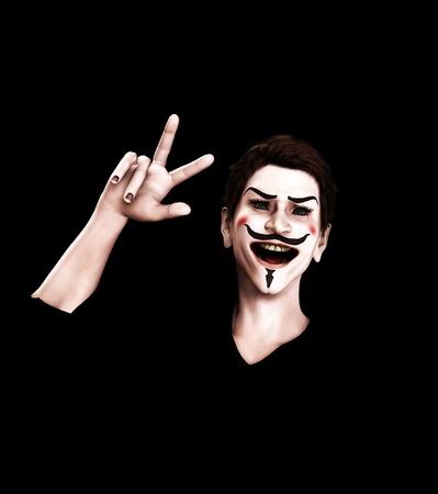 guy fawkes night: Una rappresentazione di Guy Fawkes cercando vittorioso.