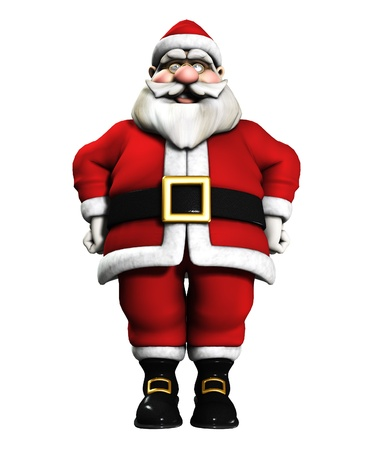 jovial: Very happy and jolly Father Christmas for the Christmas period.
