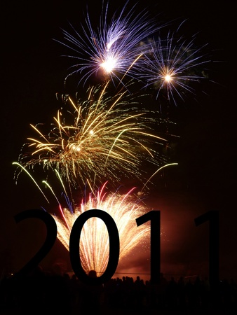 Fireworks that are going of celebrating the new year. photo