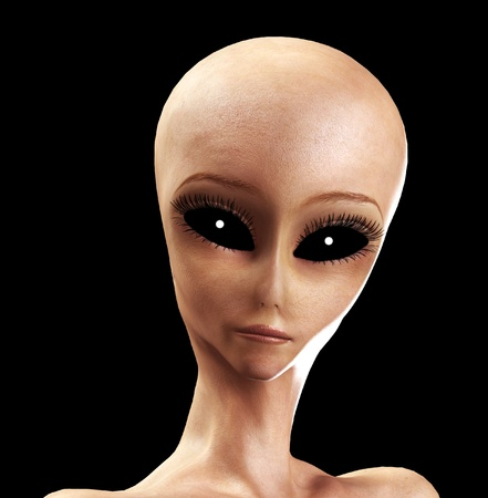 extra terrestrial: An image of an alien life form