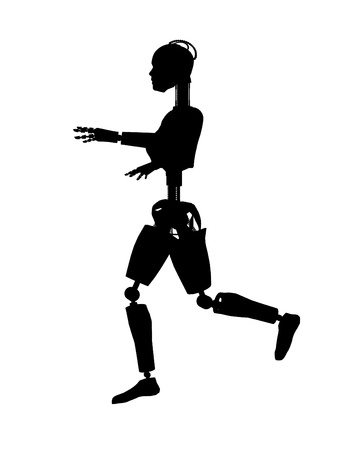Silhouetted outline of a female photo