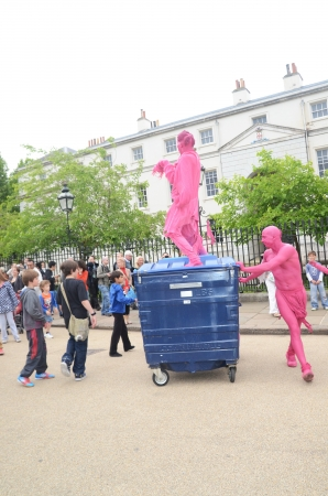 extra terrestrial: London - June 23: The Invasion of Pink Aliens At the Greenwich and Docklands International Festival In Greenwich London June 23nd, 2012 in London, England.