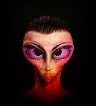 Alien human hybrid that is a staring in a sinister way. Stock Photo - 15830579