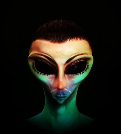 Alien human hybrid that is a staring in a sinister way. Stock Photo - 15830573