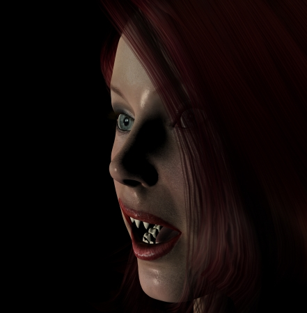 Sexy red haired vampire for Halloween  Stock Photo - 15830595